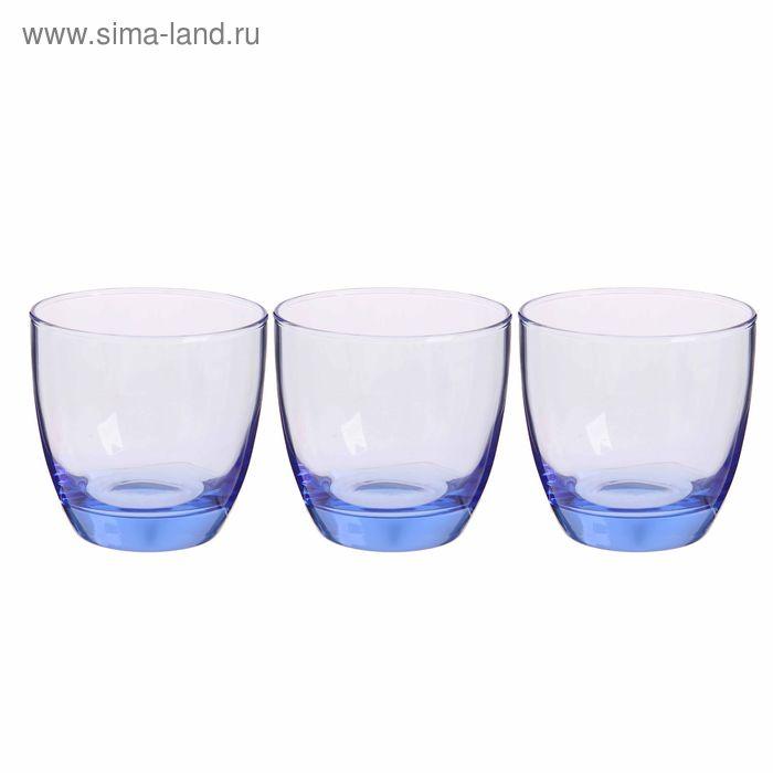 "Набор стаканов для виски 370 мл ""Лайт Блю"", 3 шт"