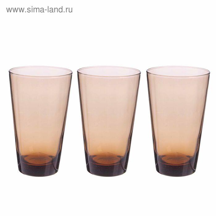 """Набор стаканов 395 мл """"Броунз"""", 3 шт"""