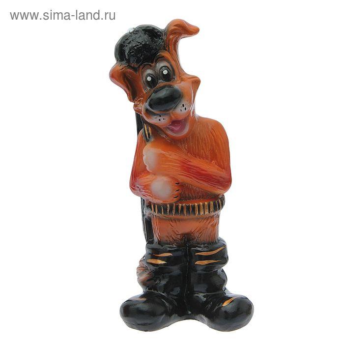 """Копилка """"Собака с ружьем """" глянец, шоколад"""