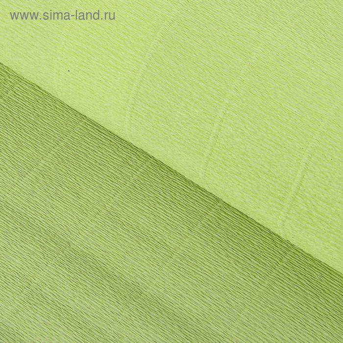 Бумага гофрированная 966 прозрачно-зеленая, 50 см х 2,5 м