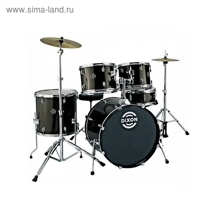 """Барабанная установка """"DIXON Spark PODSK522MBK-NC"""" цвет мутно-чёрный"""