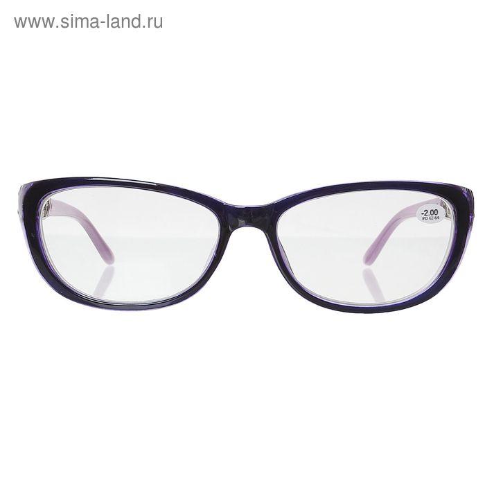 """Очки """"Бабочки"""", пластик, резная дужка, цвет фиолетово-сиреневый, -2 дптр"""
