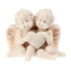 """Сувенир """"Ангелочки сидят с сердечком в обнимку"""""""