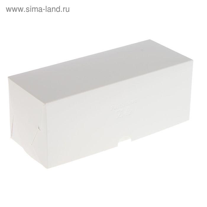 Кондитерская упаковка, короб под 3 капкейка, 25 х 10 х 10 см