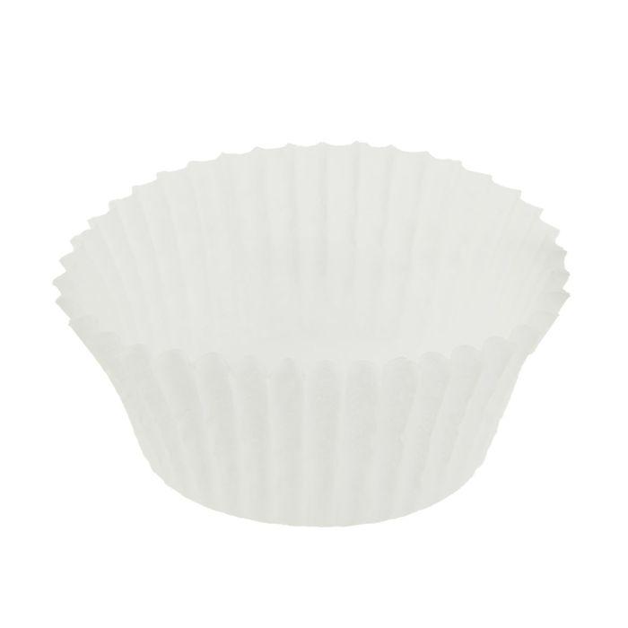 Тарталетка, форма круг, белая, 3,5 х 2 см