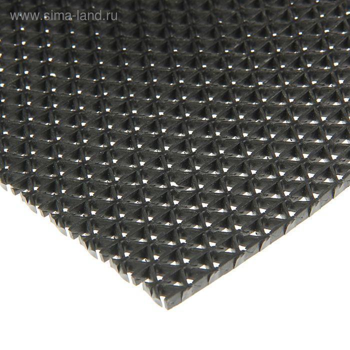 """Покрытие ковровое, противоскользящее, ширина 90 см, рулон 10 м """"Зиг-заг"""", цвет черный"""