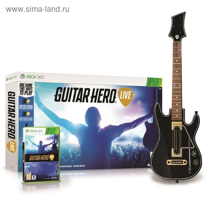 XBOX 360: Guitar Hero Live Bundle. Гитара + игра