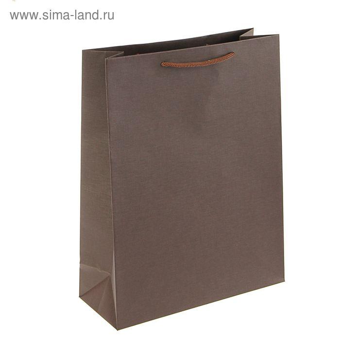 Пакет подарочный 32 х 25 х 10 см, коричневый