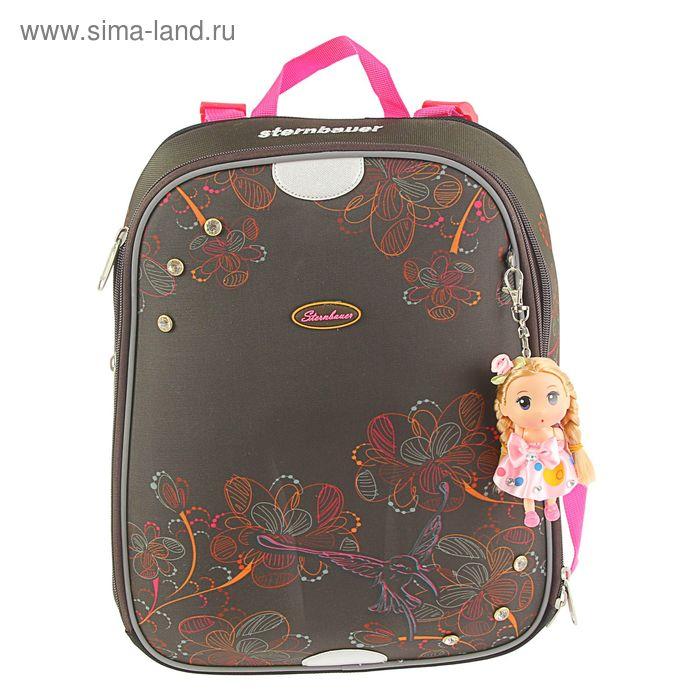 Рюкзак каркасный Sternbauer Smart 28*36*14, эргономичная спинка, для девочки, 5119