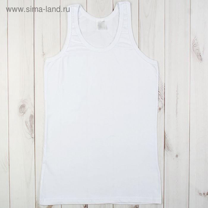 Майка мужская арт.а4060 цвет белый, р-р 44