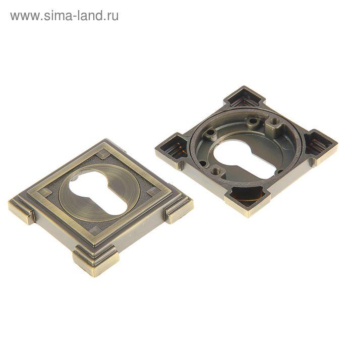 Накладка на цилиндровый механизм TRODOS Premium ET19 MAB, цвет античная бронза