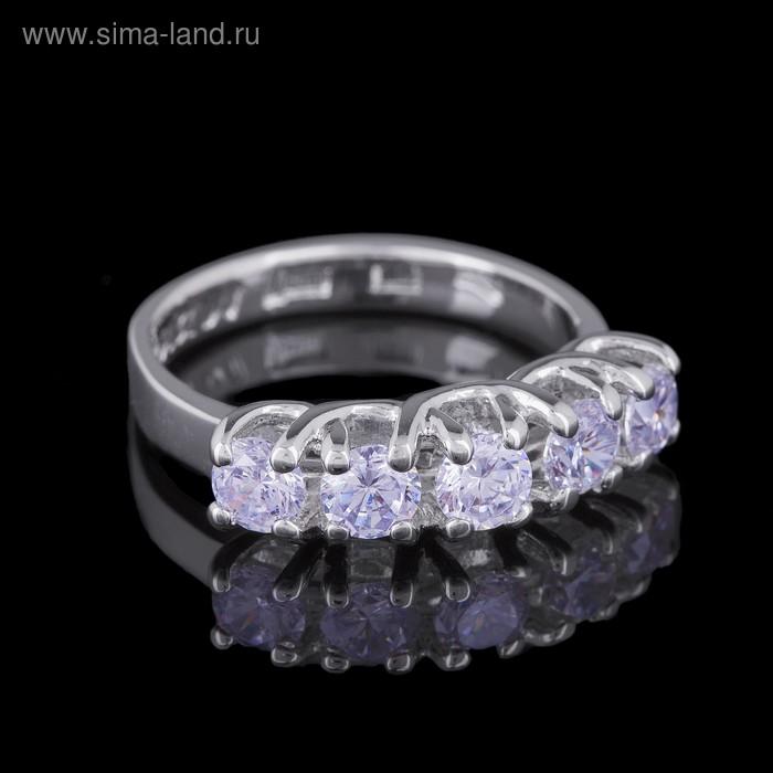 """Кольцо """"Эрлифт"""", размер 17, цвет белый в серебре"""