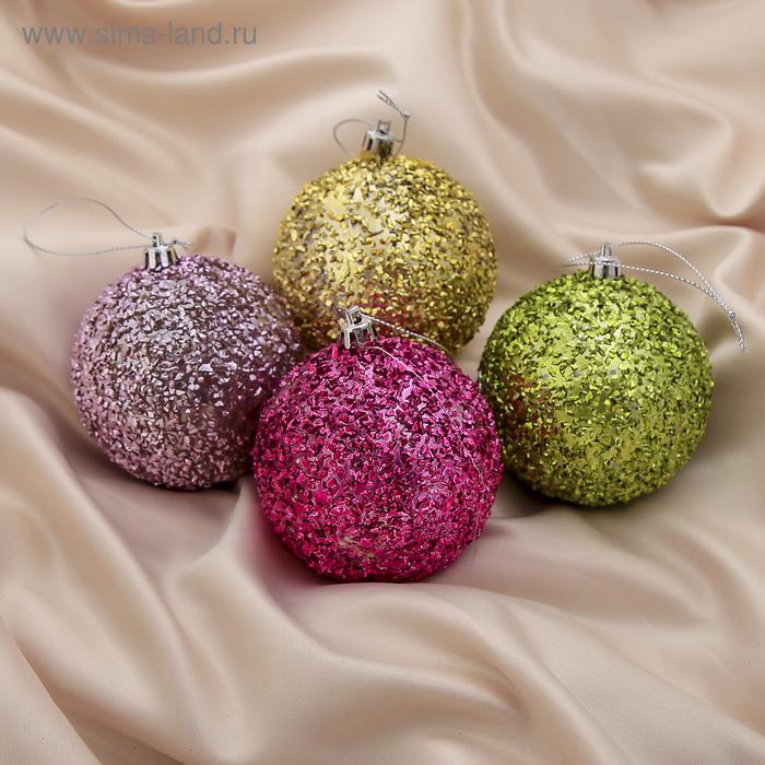 """Новогодние шары """"Арабески"""" (набор 4 шт.)"""