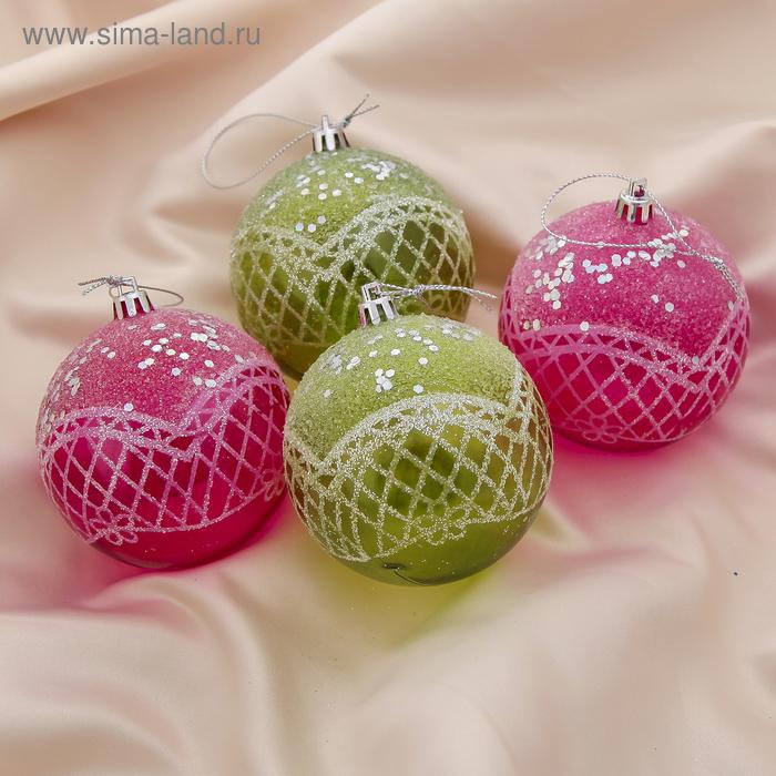 """Новогодние шары """"Магия"""" (набор 4 шт.)"""