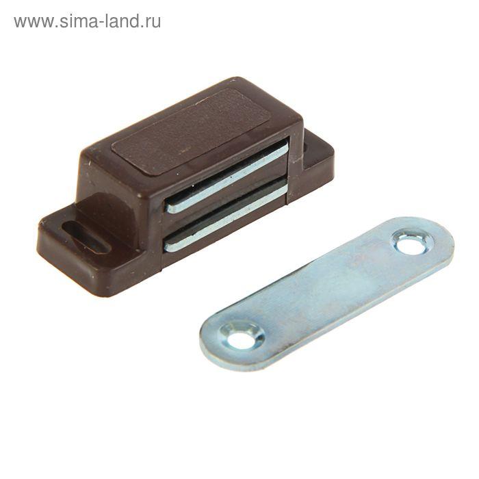 Защелка магнитная, малая, коричневая