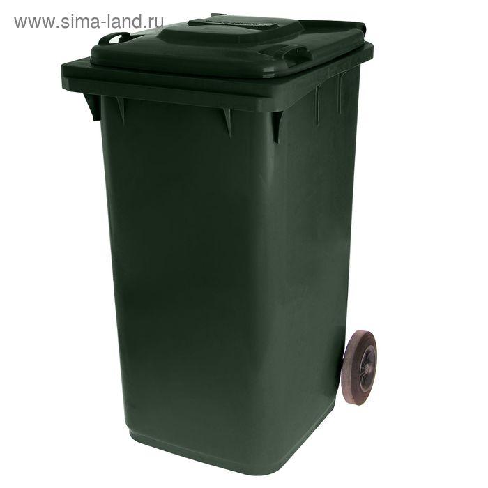 Мусорный контейнер 240 л, цвет зеленый
