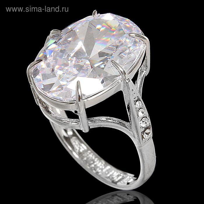 """Кольцо """"Вельмера"""", размер 19, цвет белый в серебре"""