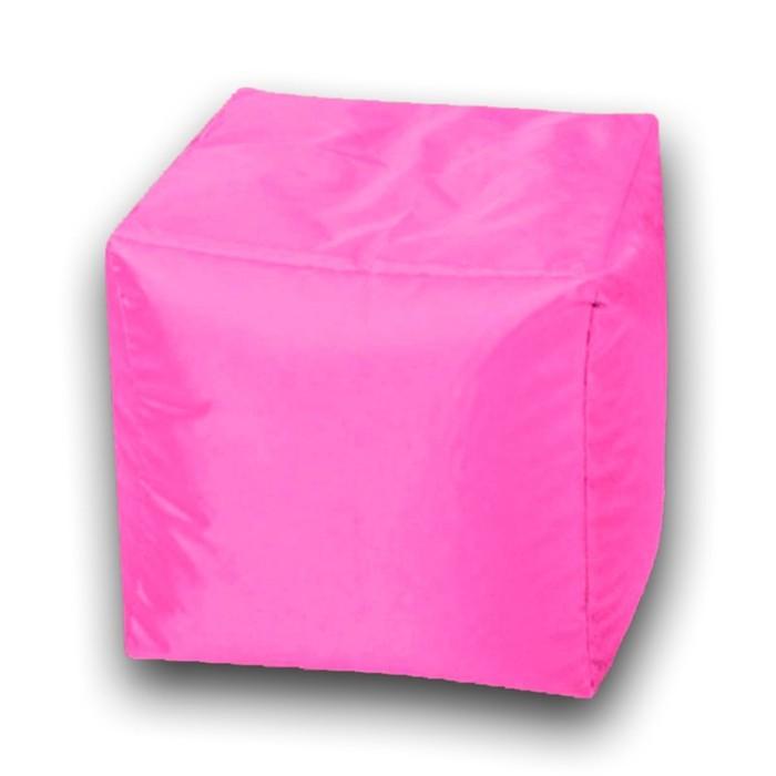 Пуфик Куб мини, ткань нейлон, цвет розовый