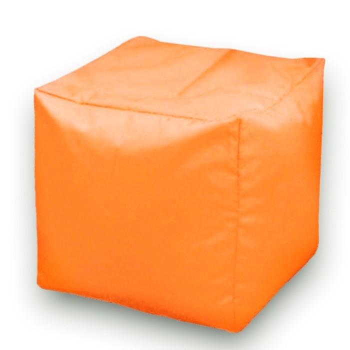 Пуфик Куб макси, ткань нейлон, цвет оранжевый