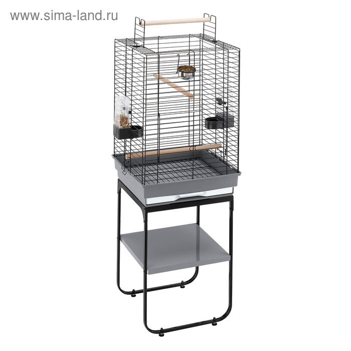 Клетка Ferplast Max 4 для птиц, 50х50х75 см, черная