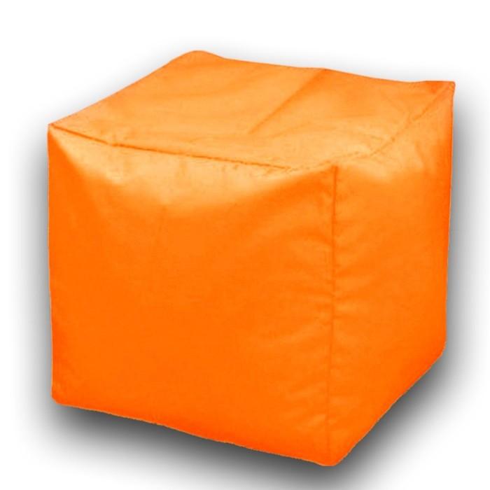 Пуфик Куб макси, ткань нейлон, цвет оранжевый люмин