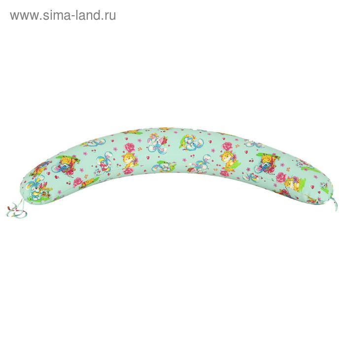Подушка для беременных Прямая, ткань бязь, принт милашки, гранулы