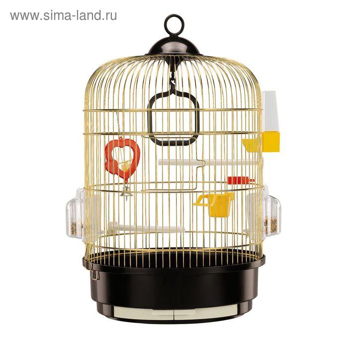 Клетка Ferplast Regina для птиц, 32.5х45,5 см, золотистая
