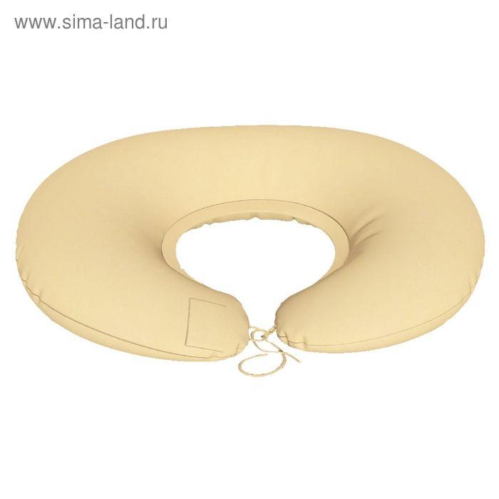 Подушка для беременных Подкова, ткань плюш, цвет бежевый, гранулы