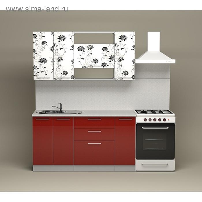 Кухонный гарнитур Гранат Азалия/Гранат металлик 1500