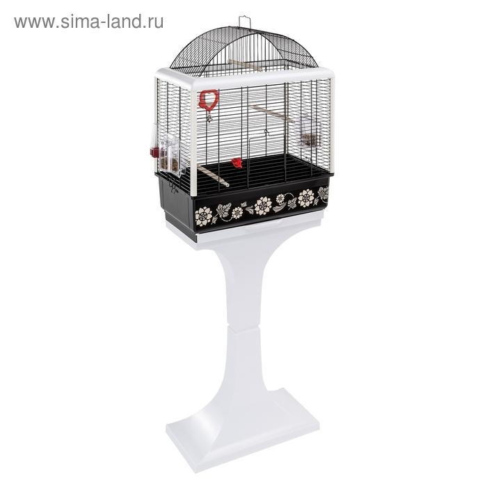 Клетка Ferplast Palladio 3 Decor для птиц, 49,5х30х65 см, черная. БЕЗ ПОДСТАВКИ.