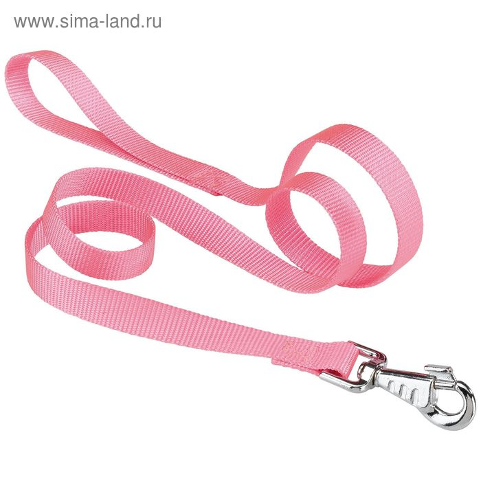 Поводок нейлоновый Ferplast Club, 110-120 х 2 см, розовый
