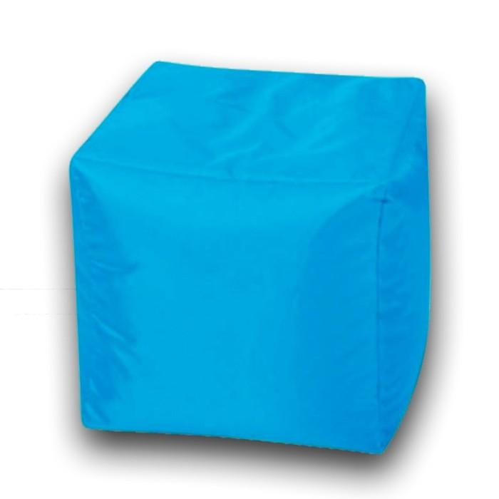 Пуфик Куб мини, ткань нейлон, цвет голубой