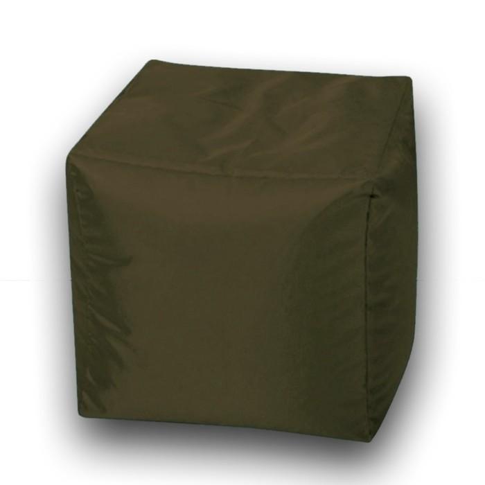 Пуфик Куб мини, ткань нейлон, цвет коричневый