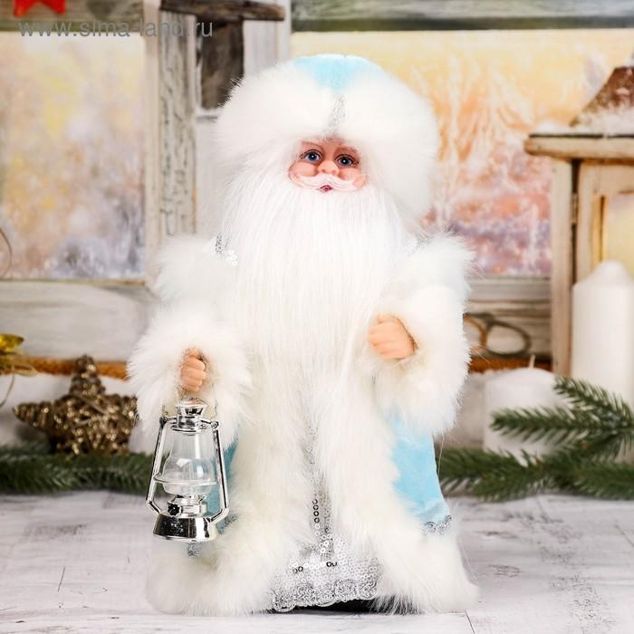 """Дед Мороз """"Шик"""", в голубой шубе, с фонарём, русская мелодия"""