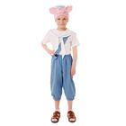 """Карнавальный костюм """"Поросёнок Нуф-Нуф"""", бриджи, футболка, воротник, шапка, р-р 60, рост 104-110 см"""
