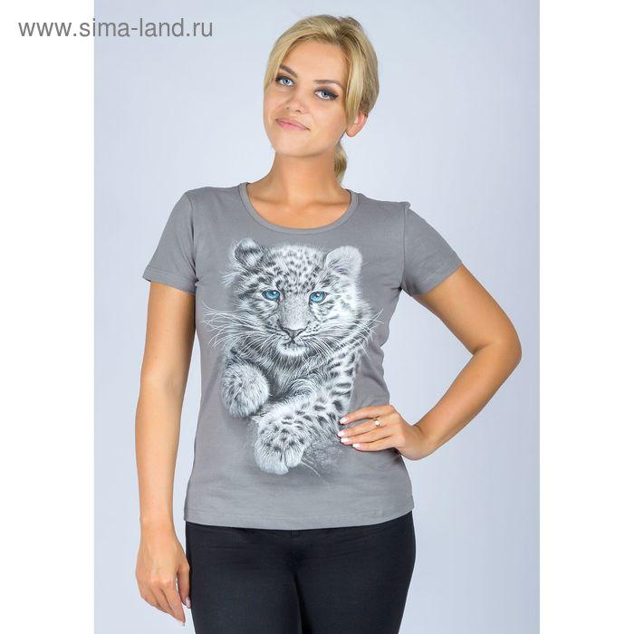 """Футболка женская """"Леопард"""", р-р 2XL (52), 100% хлопок"""