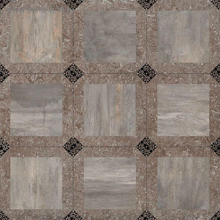 Керамогранит глазурованный Bergamo C-BE4R112D, коричневый, 427×427×80 мм