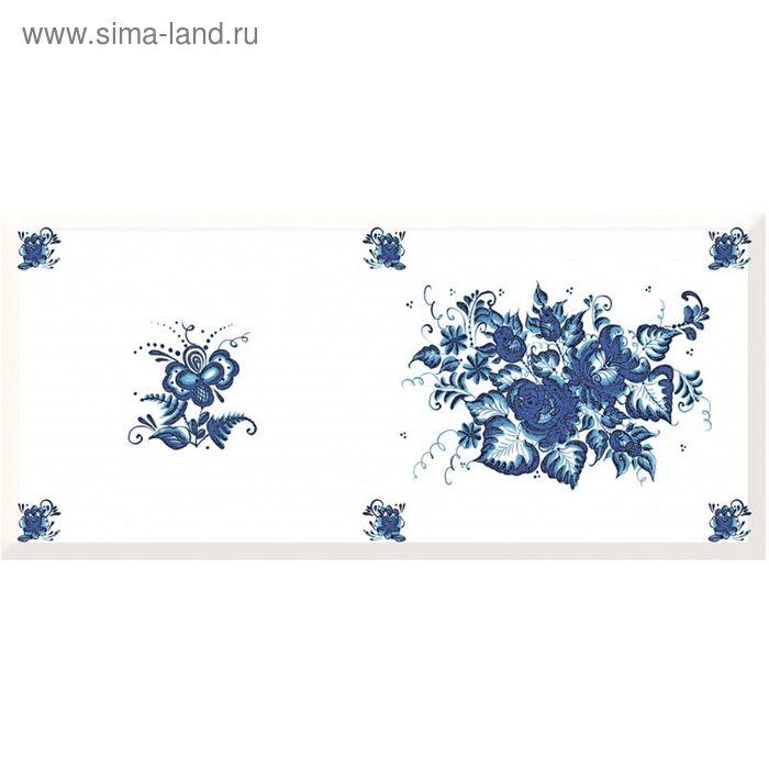 Вставка керамическая Deep Blue DB2G032D Узор 2, синяя, 200х440 мм