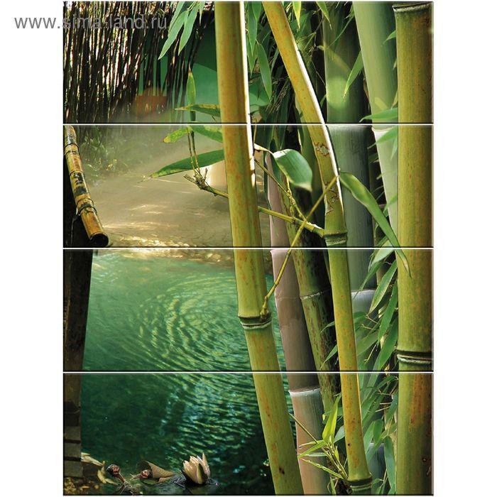 Панно Nature C-NT2H023D Дао 3 (набор 4 шт.), зелёное, 600х800 мм