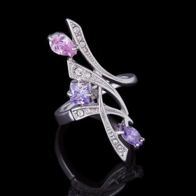 """Кольцо """"Комильфо"""", размер 19, цветное в серебре"""