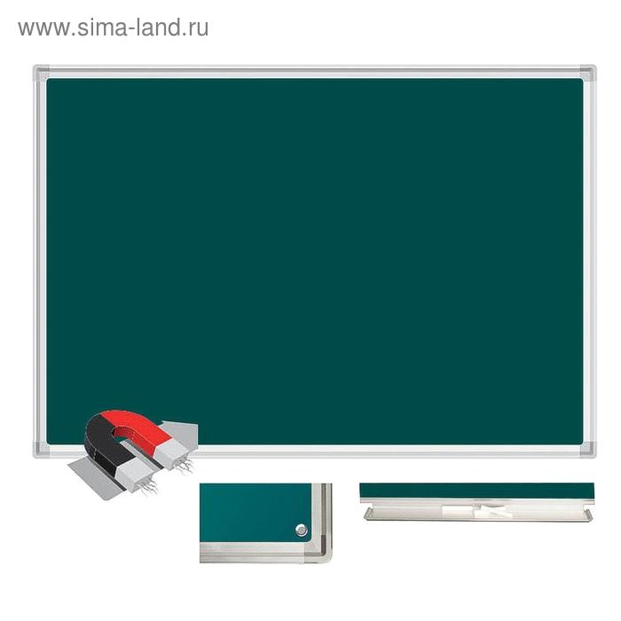 Доска магнитно-меловая настенная одноэлементная 120x240 см, лаковое покрытие, зеленая
