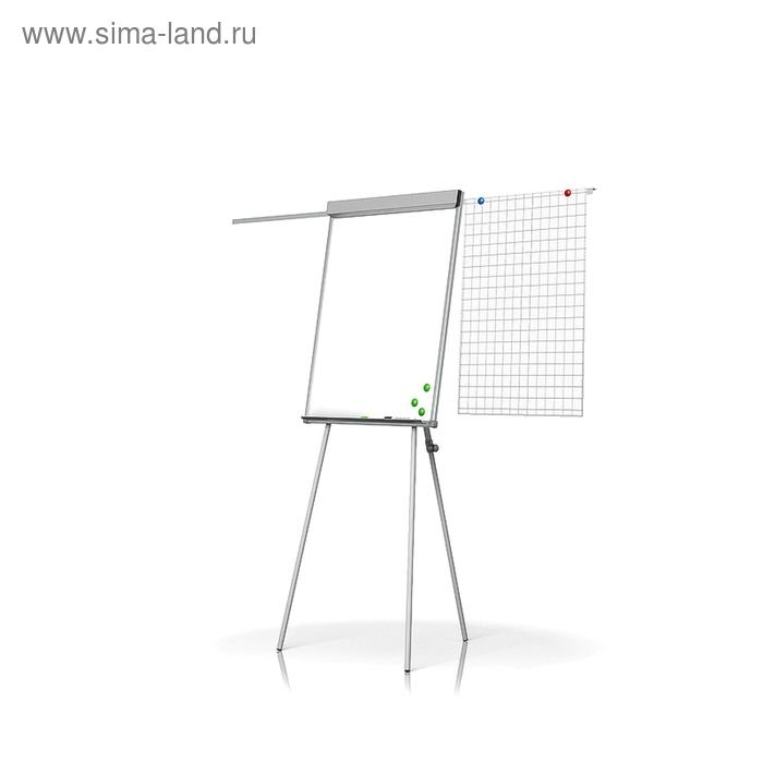 Флипчарт магнитно-маркерный на треноге с выдвижной планкой, 70х100 см