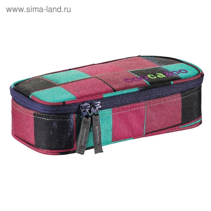 Пенал мягкий футляр ткань 240*110*60 откидная планка Coocazoo PencilDenzel розовый