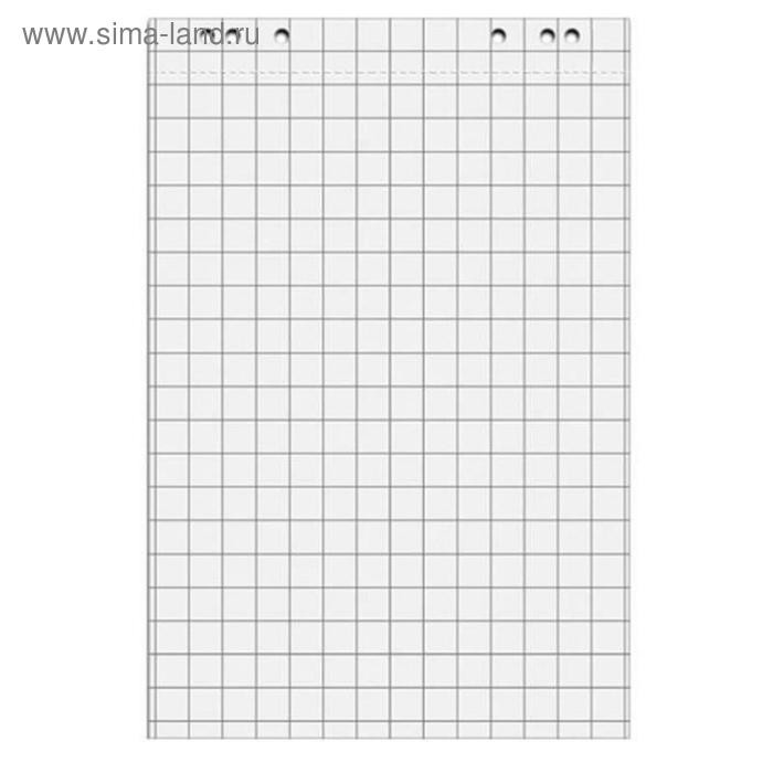 Бумага для флипчартов 67.5х98 см белая 20 листов в клетку (80 г/м2, 5 блоков в упаковке)