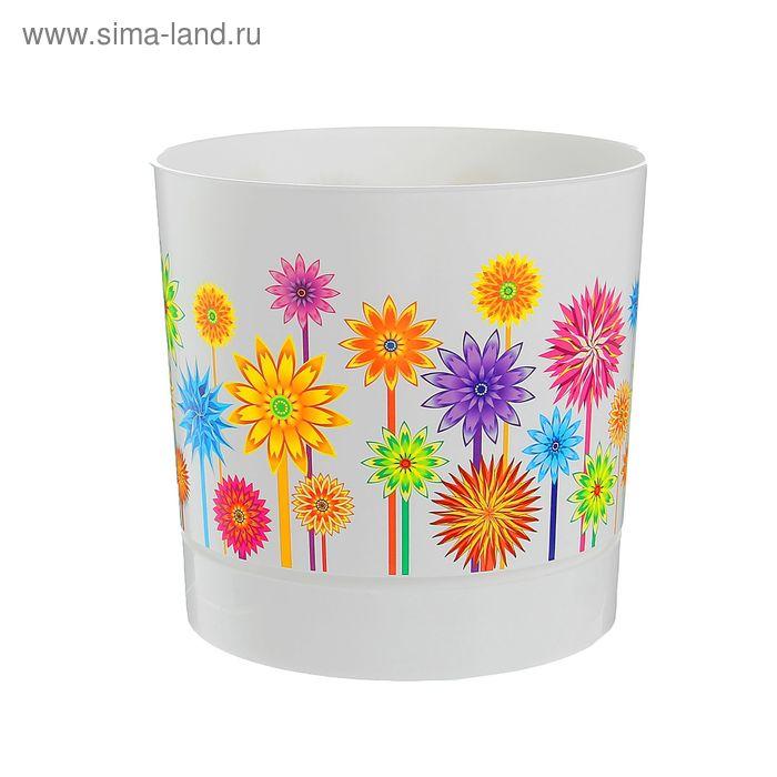"""Горшок для цветов 3,6 л """"Астры"""", d=18,6 см, с подставкой"""