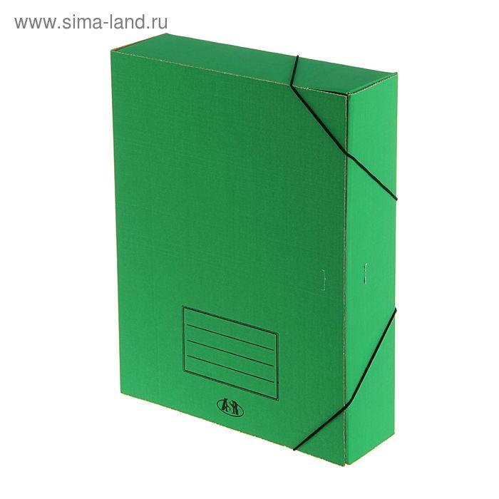 Папка архивная А4 на резинке 70мм зеленая