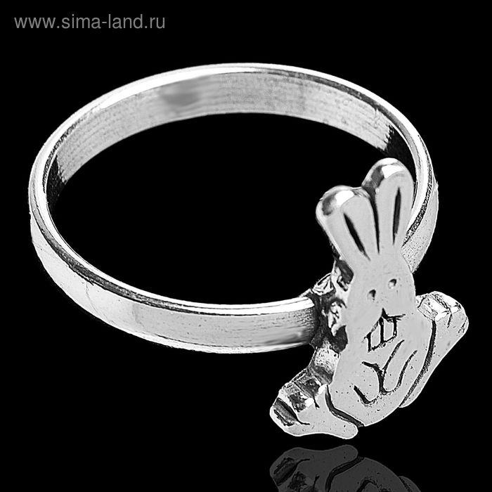 """Кольцо """"Зая"""", размер 17, цвет чернёное серебро"""