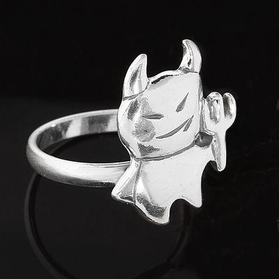 """Кольцо """"Лопс"""", размер 19, цвет серебряный"""