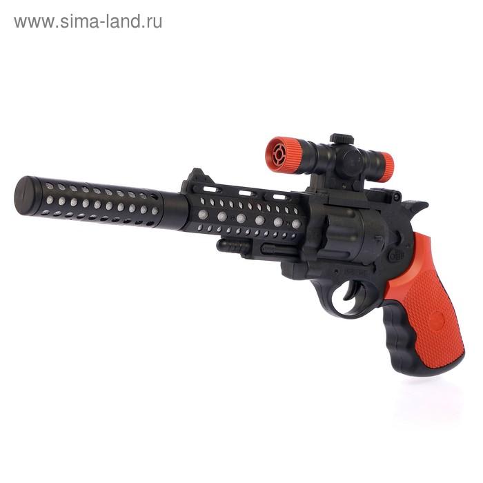 """Пистолет """"Револьвер"""", световые и звуковые эффекты, работает от батареек"""