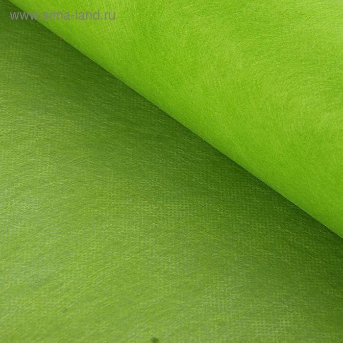 Фетр однотонный зелено-желтый, 50 см х 20 м